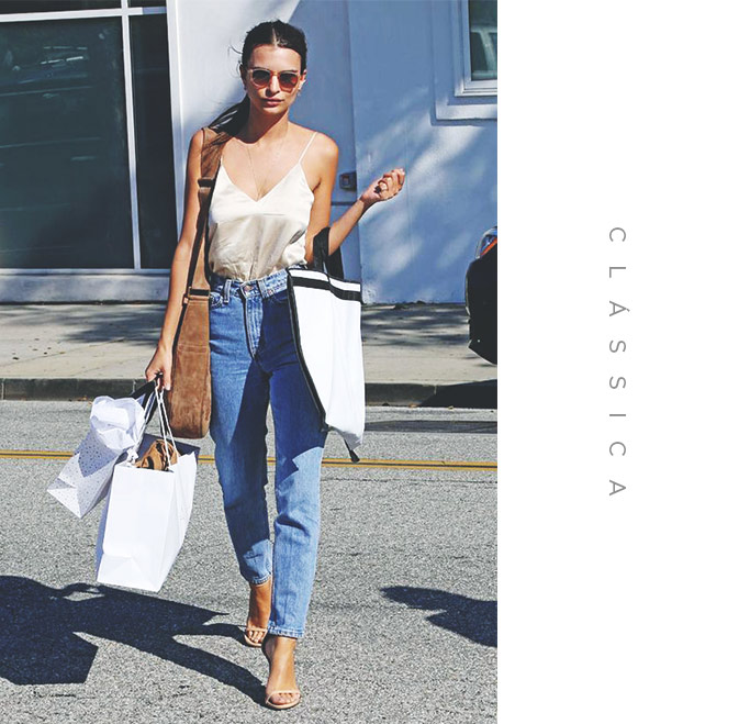look classico com mom jeans
