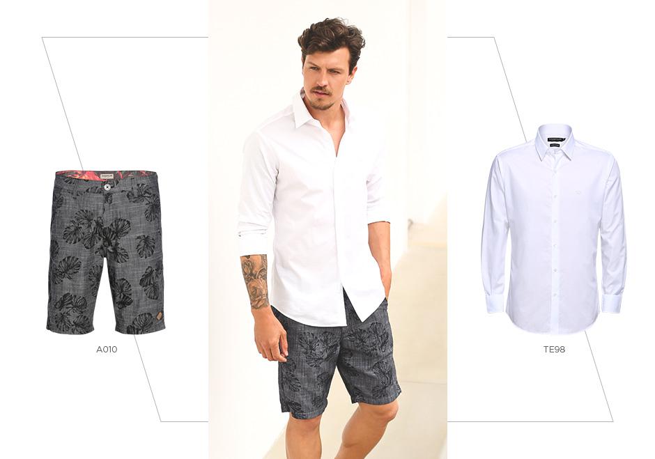 bermuda e camisa social