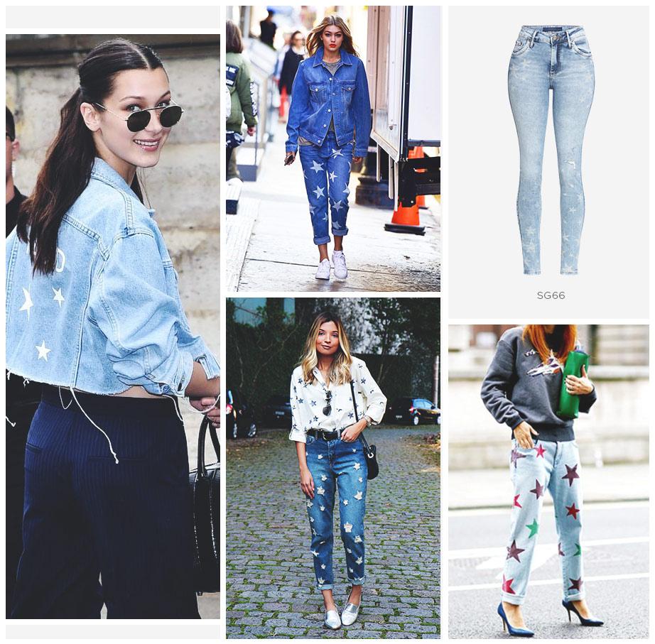 jeans com estrelas