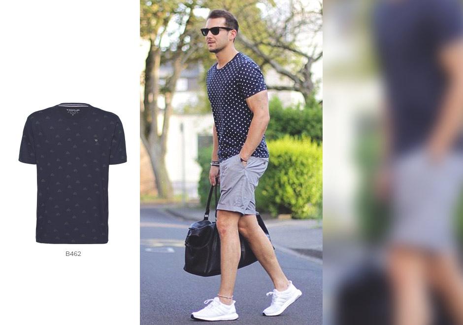 camiseta com estampa repetição masculina
