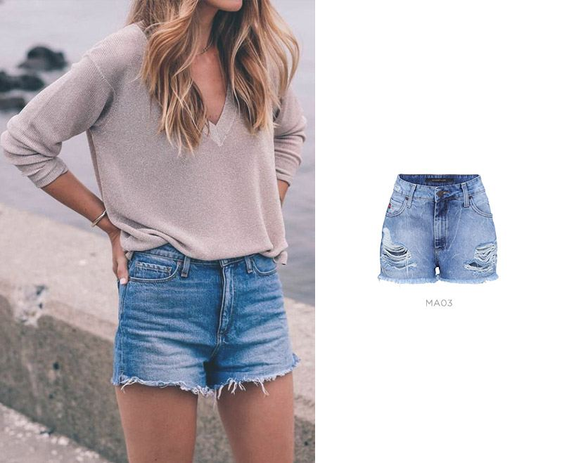 short jeans look basico