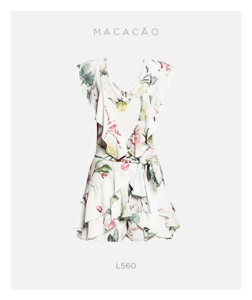 macacão floral damyller