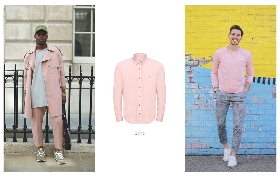 Camisa rosa masculina