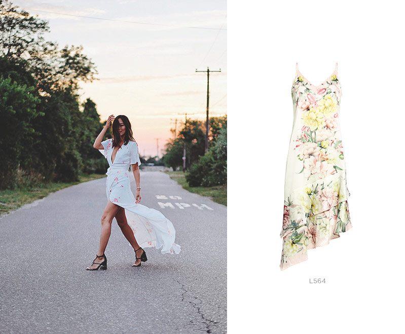 vestido floral damyller