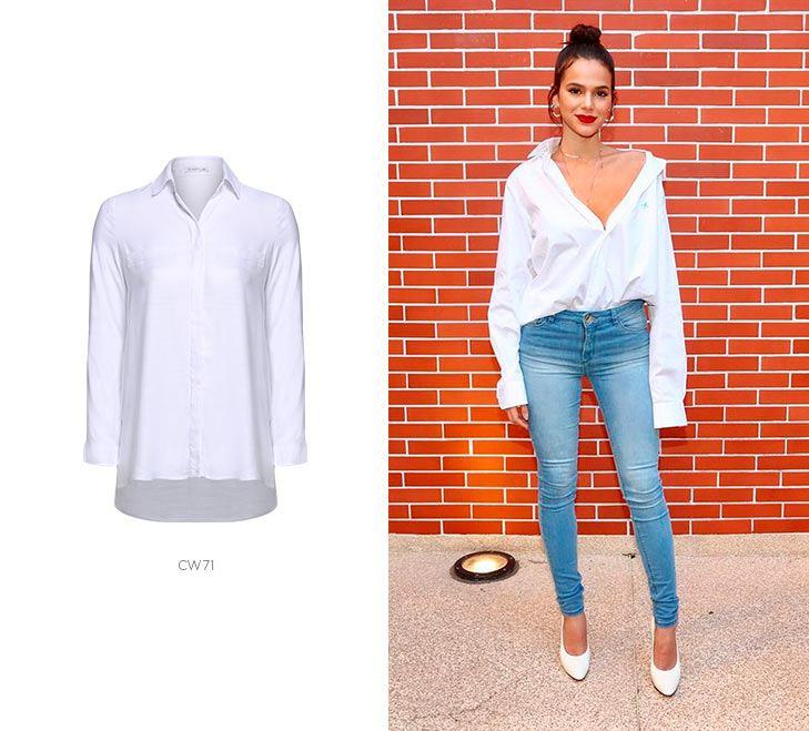 camisa branca jeans