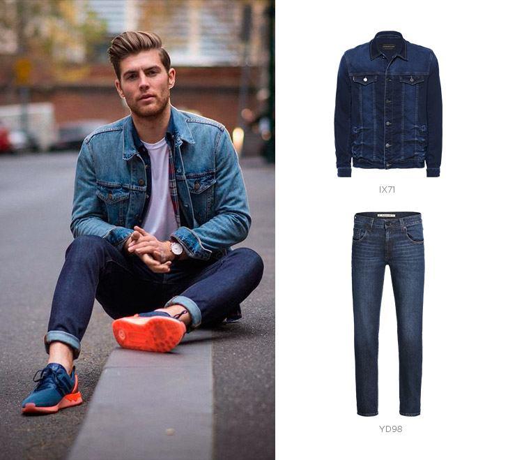 jaqueta calca jeans