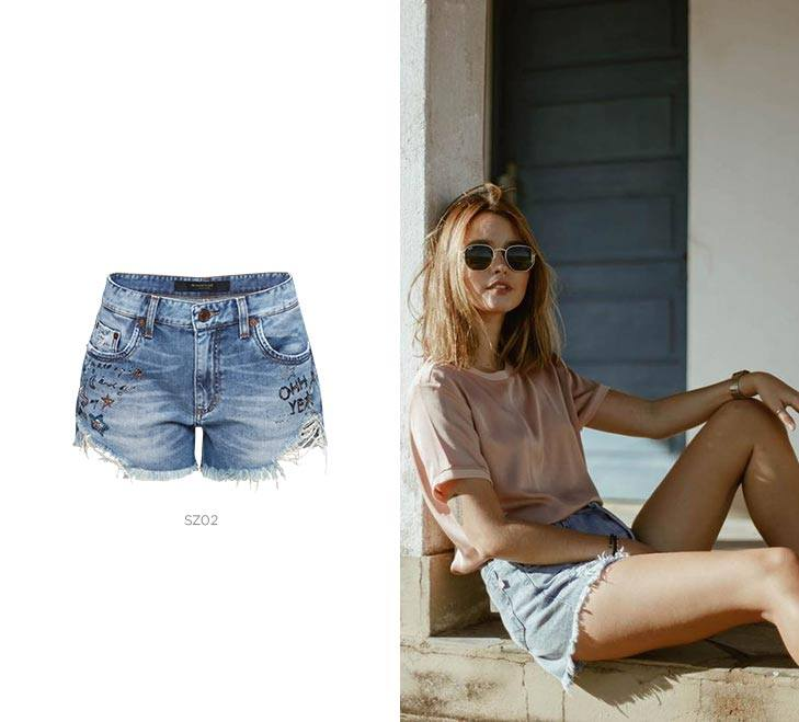 mala carnaval short jeans damyller