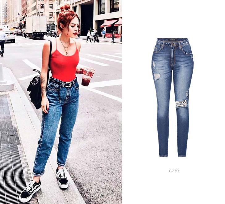 Tipos de calça jeans - mom
