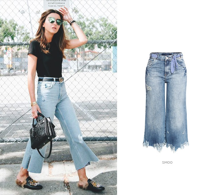 tipos de calças jeans - pantacourt