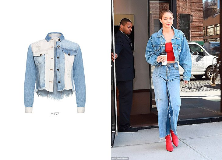 gigi hadid jaqueta jeans
