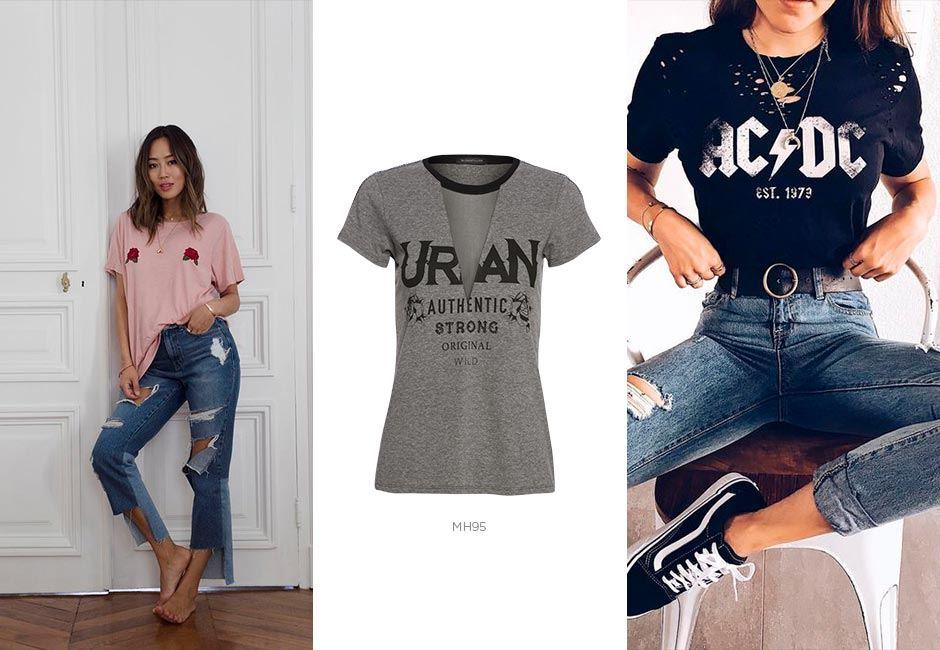 jeans e camiseta