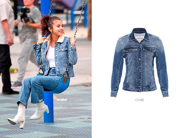 selena gomez jaqueta jeans