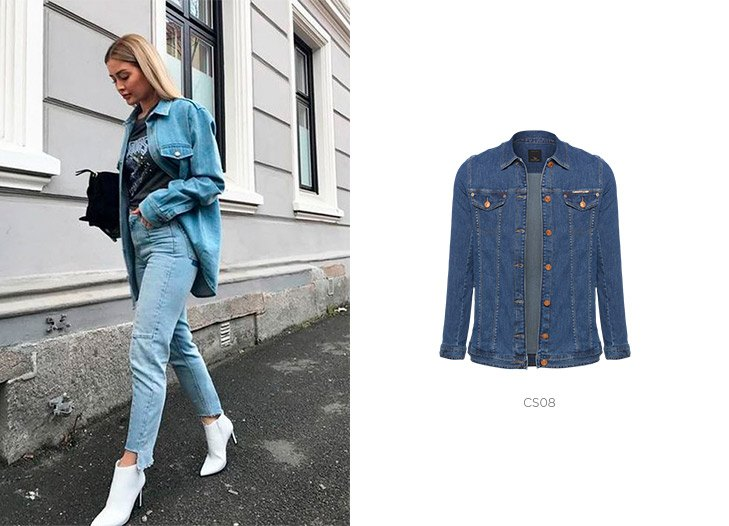 Calça jeans e jaqueta jeans