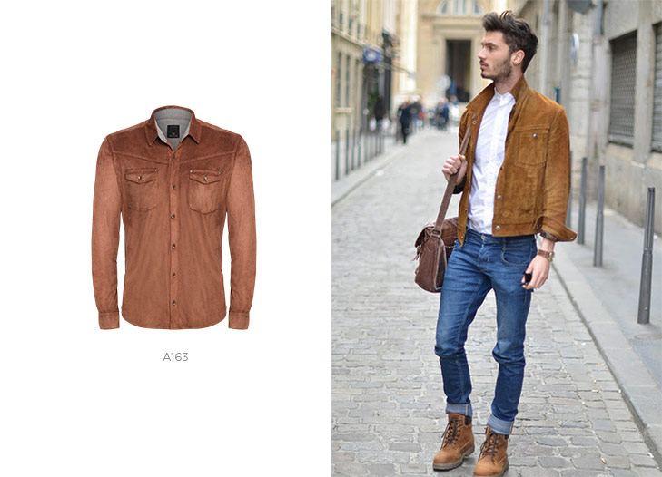 Jaqueta de suede masculina