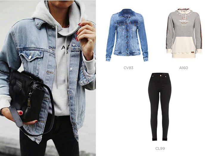 look descolado jeans damyller