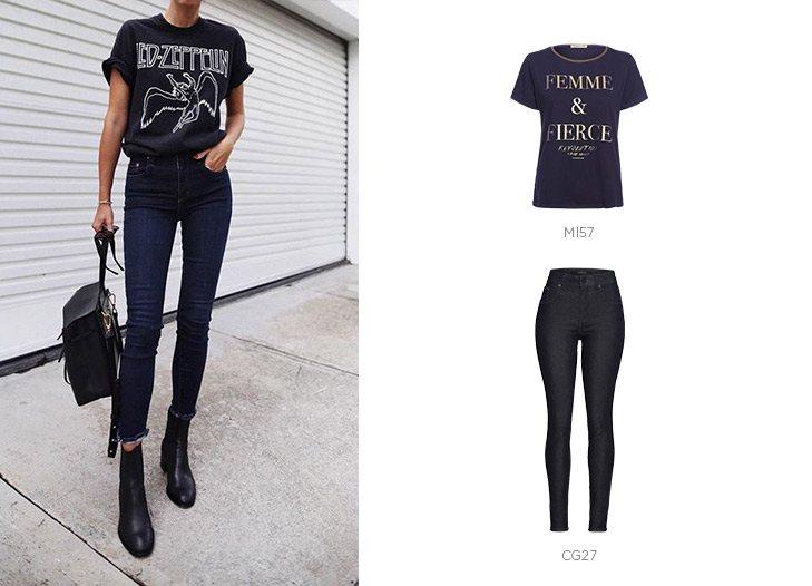 look rocker jeans damyller