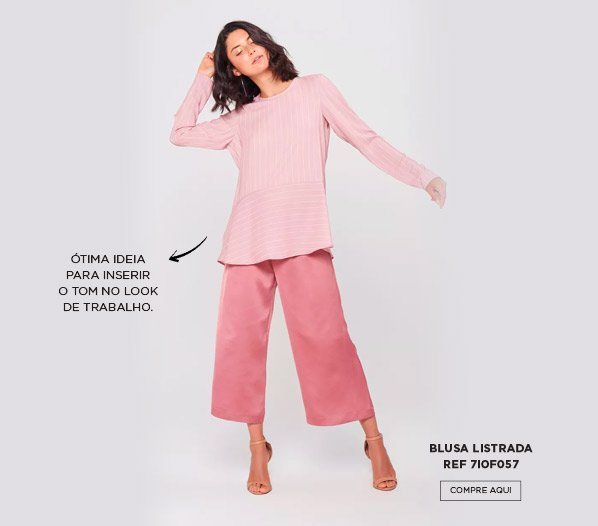 blusa listrada rosa