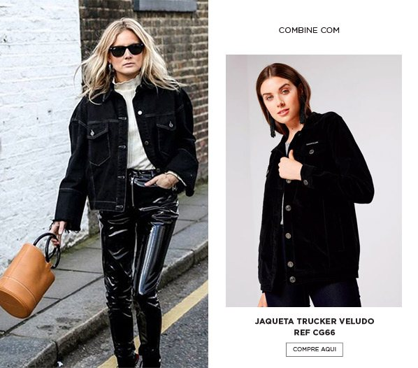 Calça de vinil com jaqueta
