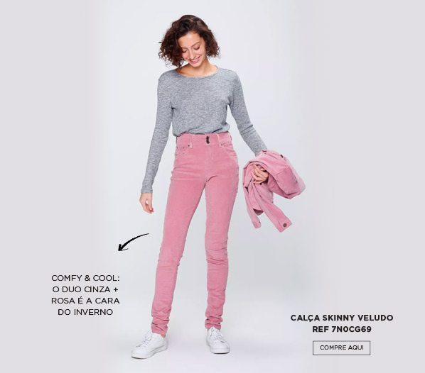 calça skinny veludo