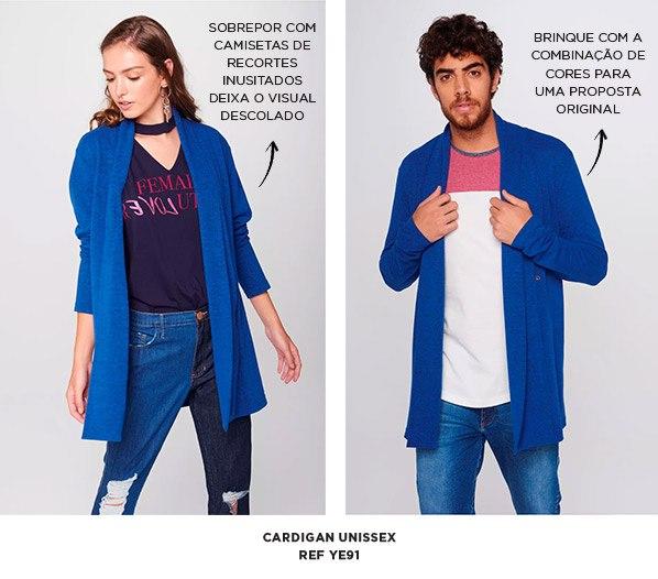 cardigan azul sem gênero