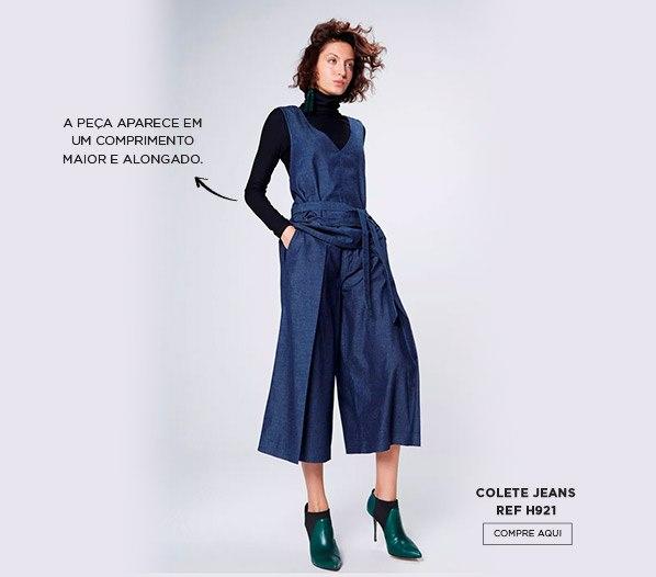 Colete jeans alfaiataria