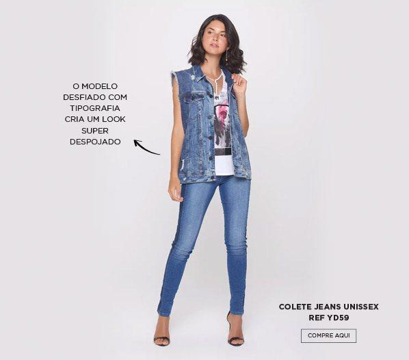 Colete jeans customizado