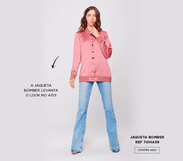 jaqueta bomber rosa