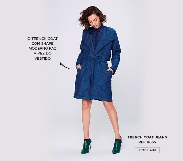 Trench coat jeans moderno