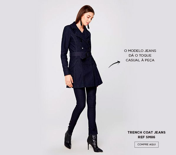 Trench coat jeans