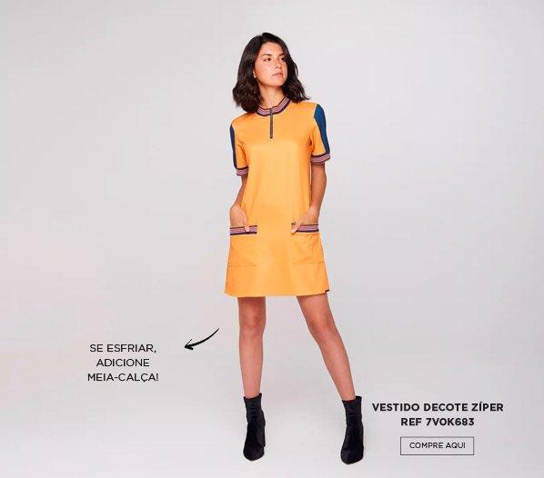 vestido zíper