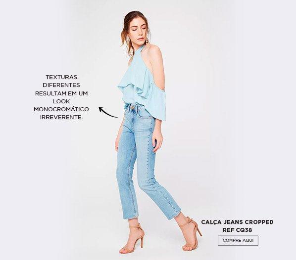 Look monocromatico azul