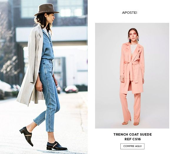 Look all jeans com trench coat