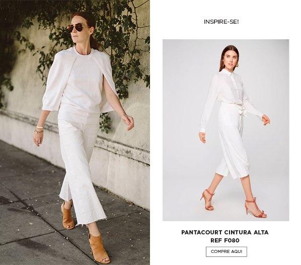 pantacourt off white