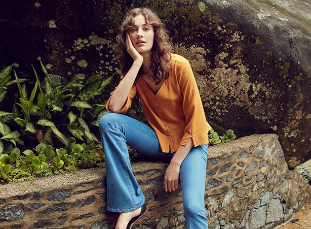 Calça jeans para altas - boot cut