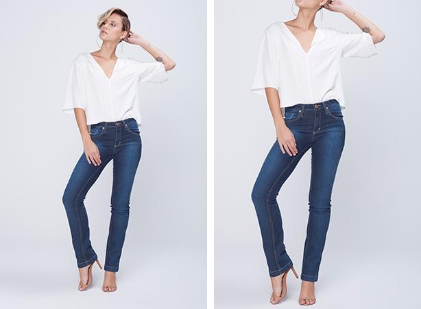 Calça para mulheres altas - cintura média