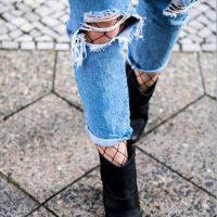 Como usar meia arrastão com jeans