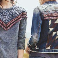 Jeans com efeito customizado