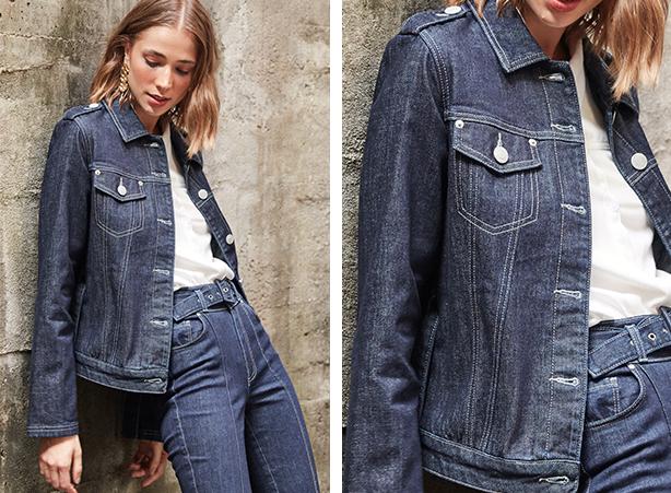 Jaqueta jeans para o inverno