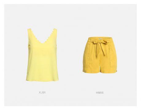 conjunto amarelo damyller