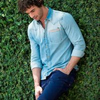 Como usar look total jeans masculino