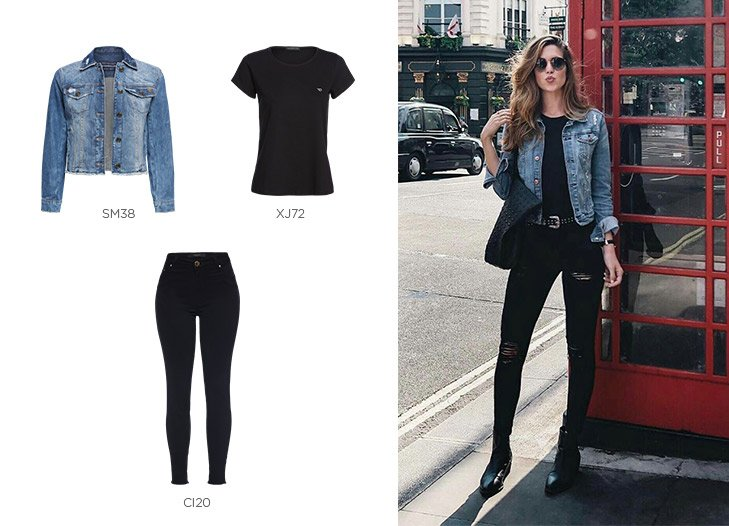 jeans preto com botas