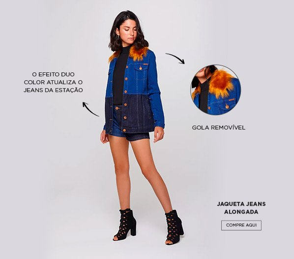 jaqueta jeans patch damyller