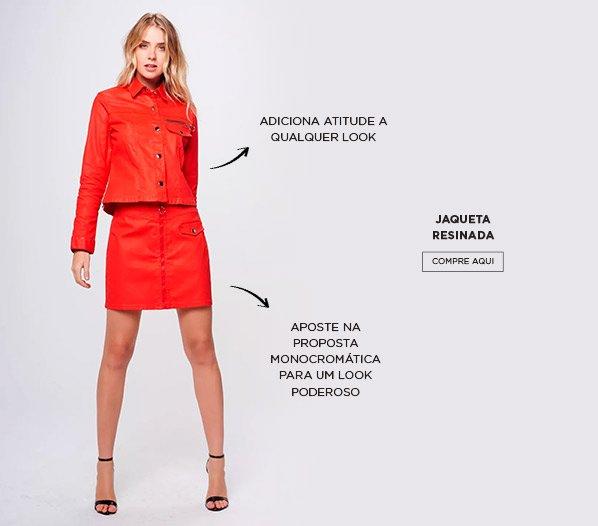 jaqueta vermelha damyller