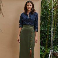 Aprenda a usar saia midi no outono 2018