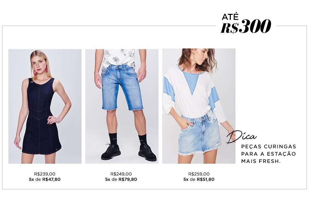 O jeans é peça curinga no closet para a estação mais fresh.