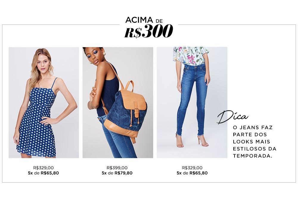 O jeans faz parte dos looks mais estilosos da temporada.