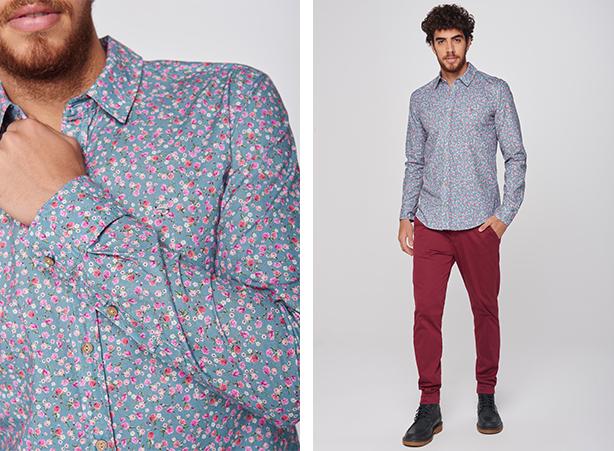 Camisa floral com calça
