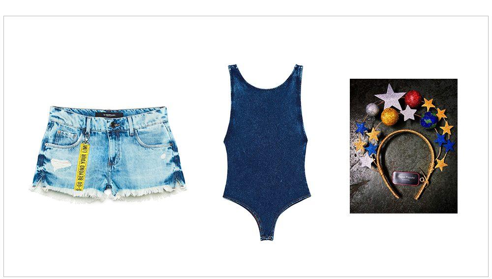 Look Carnaval com body jeans