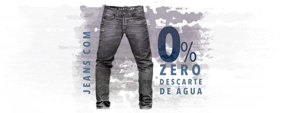 jeans com zero descarte de água