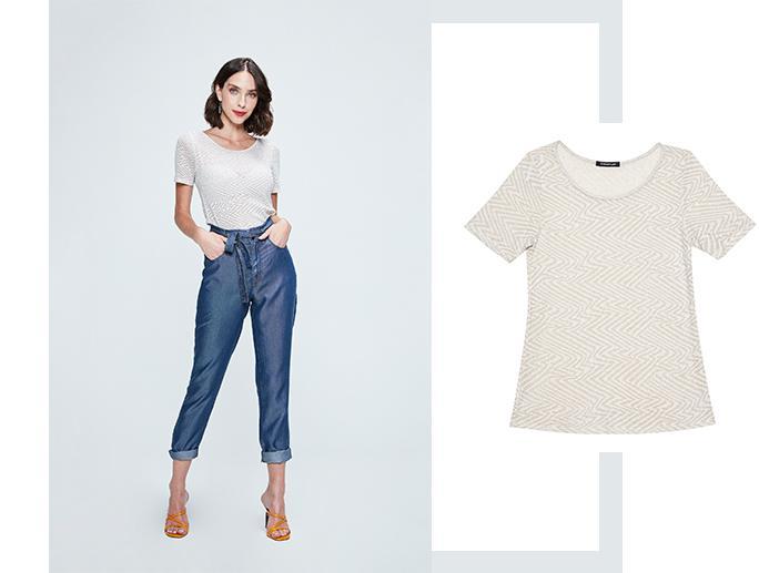 Calça jeans clochard com barra dobrada